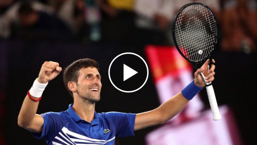 Novak Djokovic deleita a los fanáticos de Adelaide con un espectáculo de baile