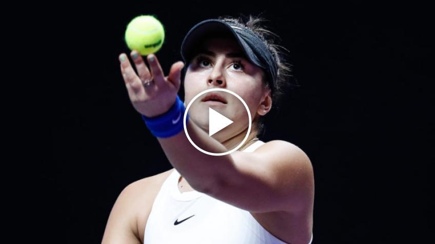 Bianca Andreescu en enfrentamiento contra Osaka antes de Abierto de Australia 2021