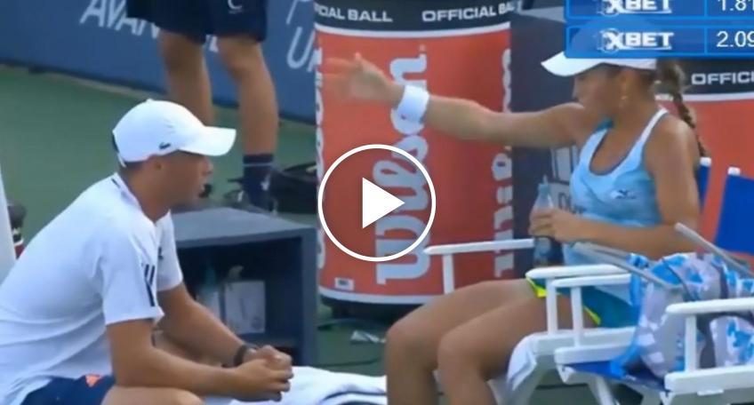 Yulia Putintseva se aloca con su entrenador: 'Vete, ¿por qué estás aquí?'